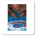 Tibetan Sand Mandala created in Marin California
