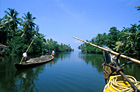 crusing on houseboat Kerala backwaters Arabian Sea